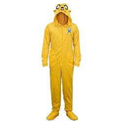 Adventure Time Jake Onesie Footie Pajama with Cape