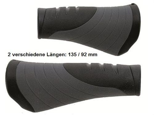 Fahrrad Lenkergriffe Griffe VELO ErgoGel D3 Schraubgriffe 135 / 92mm