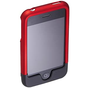 AmazonBasics Shell-Case for iPhone 3G, 3GS (Red/Black)