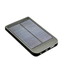 Exilient 2600 mAh Ultra Slim Solar & Li Polymer Power Bank charger for Smart Phone, iPhone, iPad, PSP, Ebook (Black)