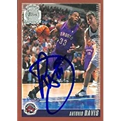 Antonio Davis Autographed Hand Signed Basketball Card (Toronto Raptors) 2000 Topps... by Hall of Fame Memorabilia