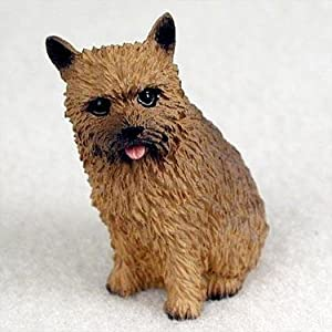 Norwich Terrier Miniature Dog Figurine