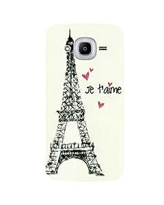 GripIt Eiffel Tower Printed Case for Samsung Galaxy J2 (2016)