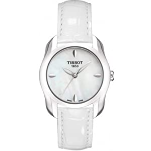 Tissot Womens T-Wave Leather Strap White Analog Watch T0232101611100