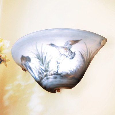 Exciting Lighting Ambp100 Battery Powered Half Moon Led Wall Sconce With Glas