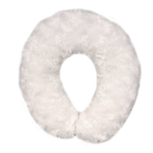 Blankets and Beyond Rosette Baby Travel Pillow Ivory - 1