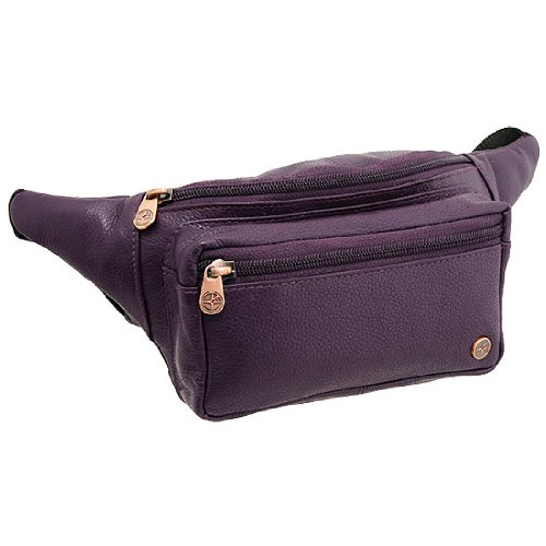 Leather Bumbag In Purple By 1642 . Bum Bag In Leather . Leather Bumbags