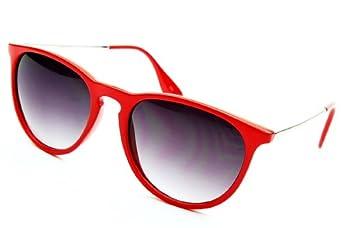 4066170ebd84 W236 Vintage Retro 80s Wayfarer Designer Celebrity Sunglasses (redsilver  uv400) Clothing