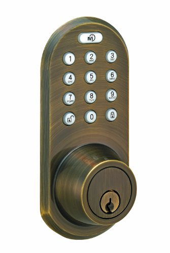 Morning Industry Qf-01Aq Keypad And Remote Deadbolt, Antique Brass