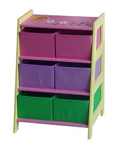 4Gr8 Kidz Pink Series Kids Storage with 6 Durable Fabric Bins