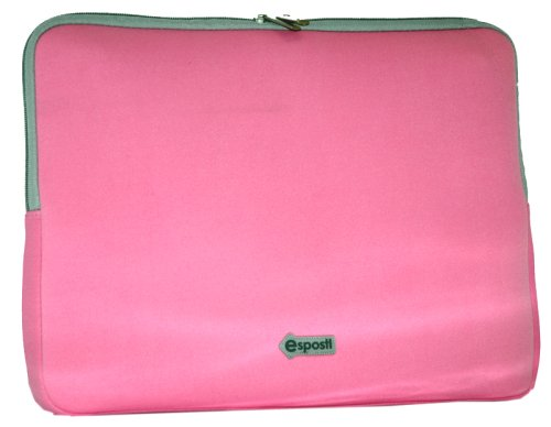 "Laptop Sleeve with Zipped Pocket 15.4"" Pink"
