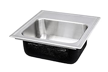 Just SLADA1815A2,6,DCR 18 Gauge Drop In Single Bowl Ada Stainless Steel Sink with Faucet Ledge