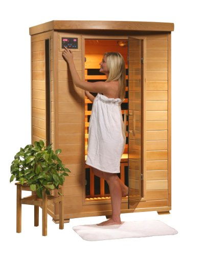 2 Person Sauna FIR FAR Infrared 6 Carbon Heaters Hemlock CD Player MP3 Aux New