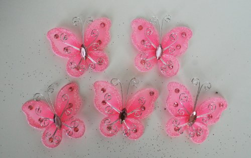 Set of 20 pcs- Organza butterfly craft wedding