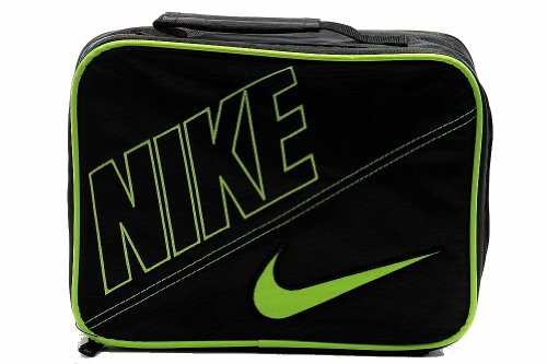 Nike Boys Black Swoosh Insulated Lunch Box Black/Volt - 1