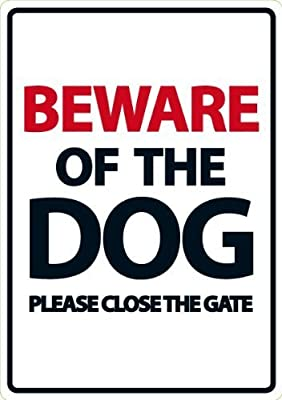 Magnet & Steel Beware of The Dog/Please Close The Gate Plastic Sign