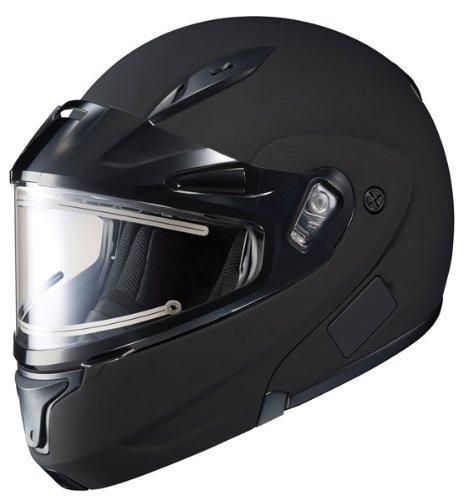 HJC CL-Max 2 Solid Bluetooth Ready Modular Snowmobile Helmet with Electric Shield - Matte Black, Large (Modular 2 Helmet Shield compare prices)