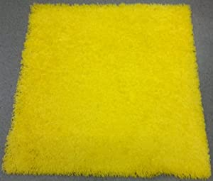 Ikea yellow square rug high pile 80cmx80cm for Yellow rug ikea