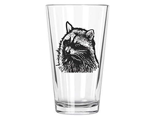 Corkology Raccoon Pint Glass, Clear