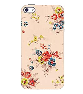 PrintDhaba Floral Pattern D-2339 Back Case Cover for APPLE IPHONE 4S (Multi-Coloured)