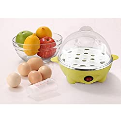 7 Eggs Automatic Food Pastry Egg Poacher Streamer Cooking Tool US Plug-Yellow