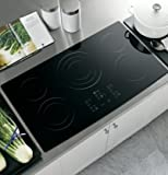 GE PP975BMBB Profile 36' Black Electric Smoothtop Cooktop