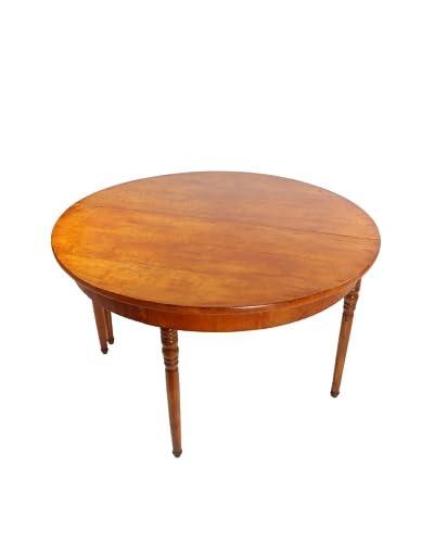 Walnut Demilune Table, Brown