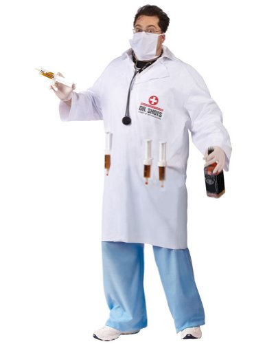 Dr Shots Plus Adult Mens Costume