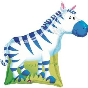 """Toy / Game Adorable Zebra Shaped 30"""" Mylar Balloon - Kid'S Party Supplies - Great For Themed Celebrations front-987289"""