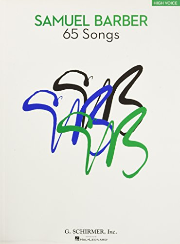 65 Songs: High Voice Edition (Tapa Blanda)