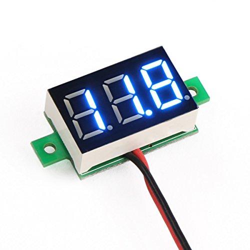 """DROK® 0,36 """"DC 2.7-30V voltmeter LED Bleu numérique Afficher panneau mètre de tension Volt Régulateur pour Automobile Testeur de batterie"""