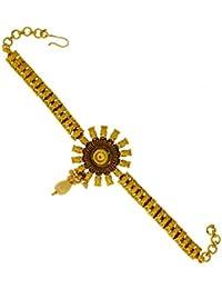 Anuradha Art Gold Plating Kundan Embedded Bajuband Armlet For Women,Girls