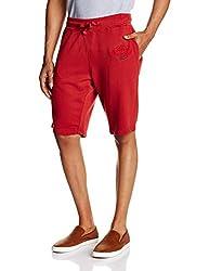 Basics Men's Cotton Shorts (8907054580262_14BKS31896_Red_34)