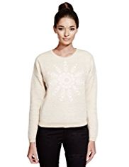 Limited Edition Metallic Effect Snowflake Jumper