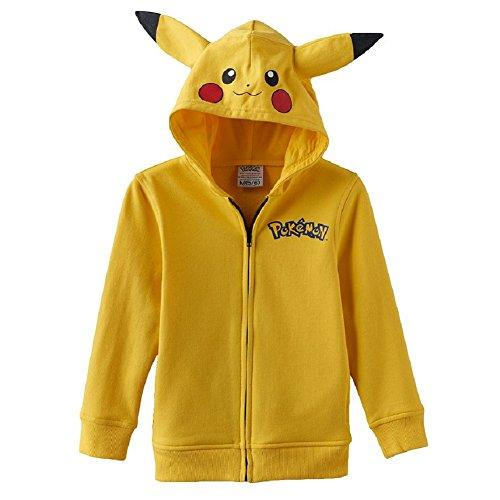 Pokemon Little Boys' Pikachu Costume Hoodie Jacket M(5/6)