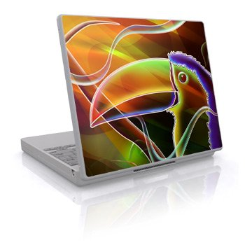 Toucan Design Skin Decal Sticker Cover for Laptop Notebook Computer - 15