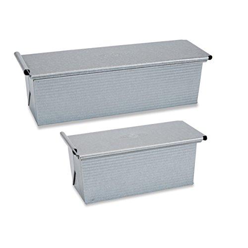 USA PAN Pullman Pan Set (1 Small Pullman 9x4x4, 1 Large Pullman 13x4x4) (Usa Pans Pullman compare prices)