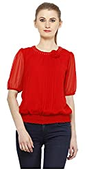 Peptrends Women's Top (TO15083RD_M, Red , M)