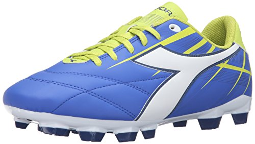 Diadora Women's Forte W MD Lpu Soccer Shoe, Electro Blue/White/Lime, 6.5 M US