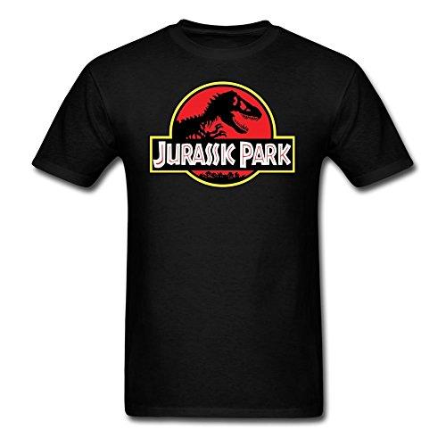 Jurassic Park Men's Classic Logo Crew Neck Short Sleeve T-Shirt