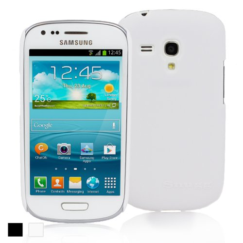 Snugg Samsung Galaxy S3 Mini Ultra Thin Case in White - High Quality Slim Profile Non Slip, Protective and Soft to touch for Samsung Galaxy S3 Mini