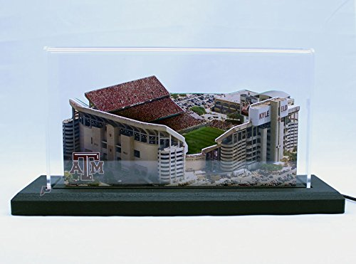 """Texas A&M Aggies Kyle Field Stadium Replica 9"""" Version Display With Led Lights"""