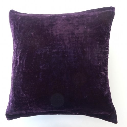 Solid Purple Decorative Pillows : DreamHome- Solid Velvet Decorative Pillow Cover 16