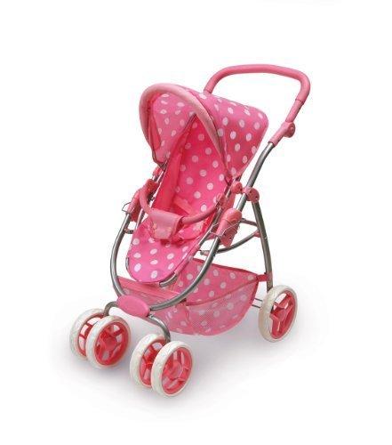 Badger Basket Six Wheel Doll Travel System Stroller And Carrier (Pink Polka Dots) Children, Kids, Game front-1066006
