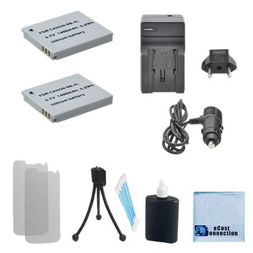 2 NB-4L Batteries Replacement + Car/Home Charger For Canon PowerShot ELPH Series 100 HS 300 HS 310 HS 330 HS TX1 Digital Series 40 50 IXUS Series iZoom i7 Zoom Wireless 30 40 50 55 60 65 70 75 80 IS 100 IS 110 IS 120 IS 130 SD Series SD40 SD30 SD30 SD200 SD300 SD400 SD430 SD450 SD600 SD630 SD750 SD780 SD940 IS SD960 SD960 SD1000 SD1100 SD1400 IXY Digital 10  available at amazon for Rs.2549