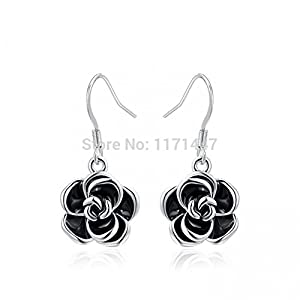 Shiny Moon Womens Girls Brand Love Wedding Ear Jewelry White Gold