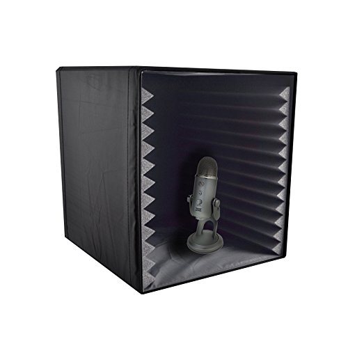 Pyle PSIB27 Sound Recording Booth Box, Studio Soundproofing Foam Shield Isolation Filter Cube (Sound Booth Portable compare prices)