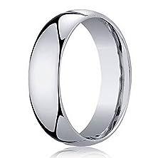 buy Men'S Designer 10K White Gold 5Mm Comfort Fit Wedding Ring