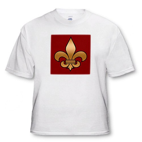 Large Black and Gold Fleur de lis on maroon background Christian Symbol - Toddler T-Shirt (4T)