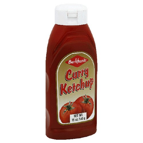 Burkhardt Curry Ketchup, 19-Ounce Plastic Bottles (Pack of 12)